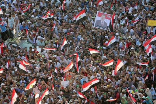 Partidarios del expresidente Morsi, en una manifestación el pasado 12 de julio / Foto: EFE