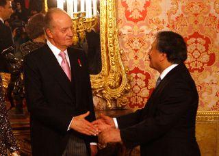 Musa Amer Odeh con el rey Don Juan Carlos, en una imagen de archivo