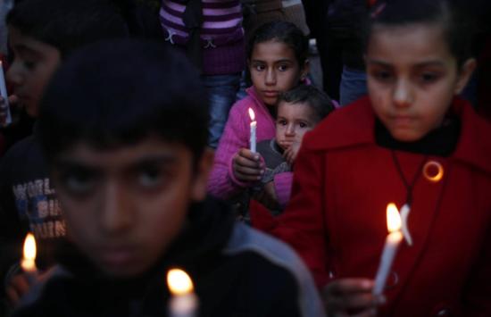 Niños palestinos en la franja de Gaza el pasado enero / Foto: Reuters