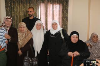 Mujeres exreclusas en Gaza / Foto: Delia Muñoz