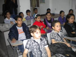 Niños palestinos en la franja de Gaza / Foto: Miguel Ángel Medina